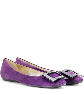 suede purple shoes