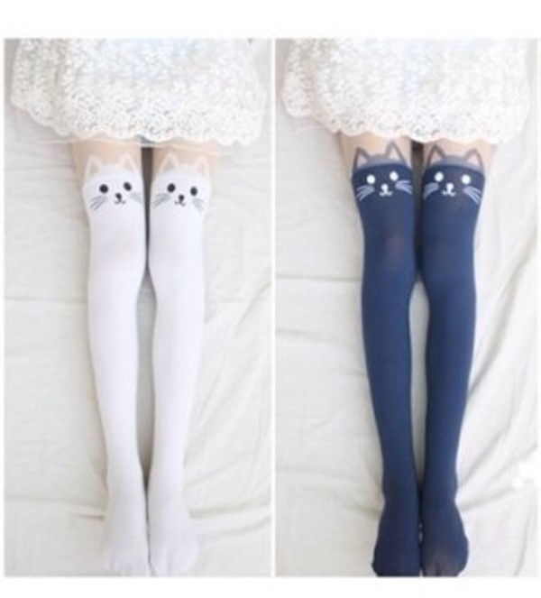 underwear animal socks cute cat tights tights cat tights cat leggings