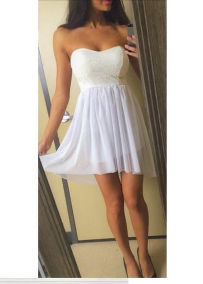 prom dress bustier dress white dress party dress