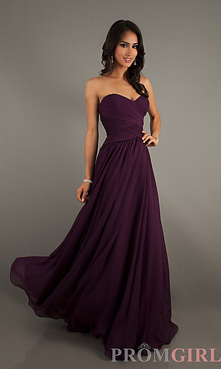 Long Strapless Gowns, Mori Lee Long Bridesmaid Dresses- PromGirl