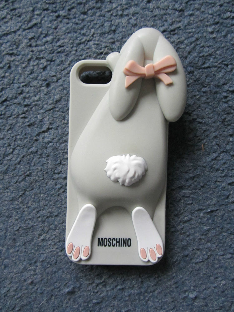 Moschino iPhone 5 cover case, bunny rabbit grey, from asos | eBay