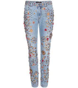 jeans boyfriend jeans boyfriend embellished blue