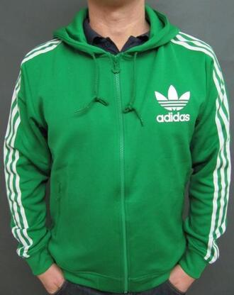 jacket adidas hoodie sweat jacket sportswear green white green light green dark green you green adidas jacket