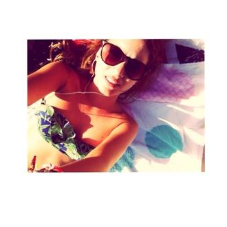 swimwear blue swimwear green swimwear vintage flower prom dress vintage flowers nice sunglasses vintage white tumblr girl summer bikini flowers sun bathing hot