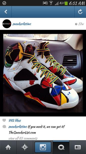 a83491309c0 shoes jordans air jordan air jordan yellow red high top sneakers nike sneakers  sneakers blue custom