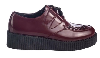 shoes red creepers bordeaux punk punk style