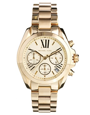Michael Kors | Michael Kors Bradshaw Mini Gold Chronograph Watch at ASOS