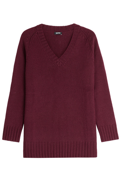 Jil Sander Navy pullover wool purple sweater