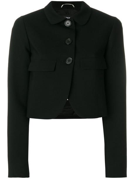 Rochas jacket cropped women spandex black wool