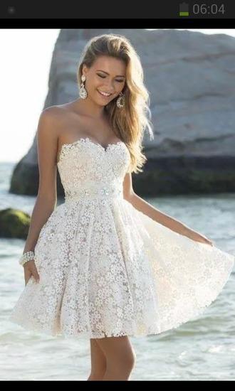 dress white dress flower dress floral floral dress