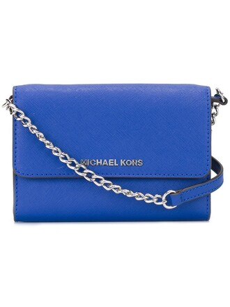 mini women clutch blue bag