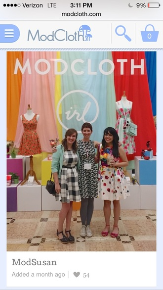 dress white colorful patterns modcloth