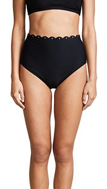 Kate Spade New York bikini bikini bottoms high scalloped black swimwear