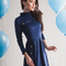 Suede a-line party dress for women