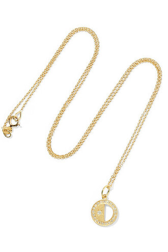 moon necklace diamond necklace gold jewels