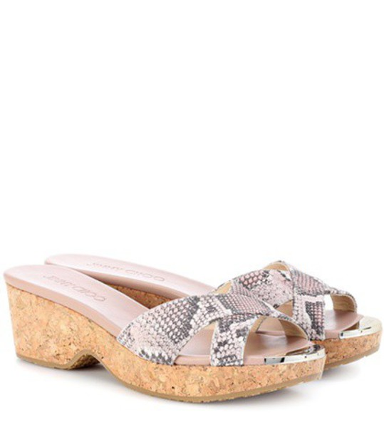 Jimmy Choo sandals leather sandals leather pink shoes