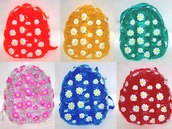 bag,see through,transparent backpack,flower pattern,flowers,daisy,rainbow,retro,backpack,transparent  bag,color/pattern