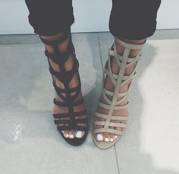 shoes sandals heels black