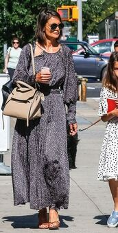 dress,katie holmes,maxi dress,sandals