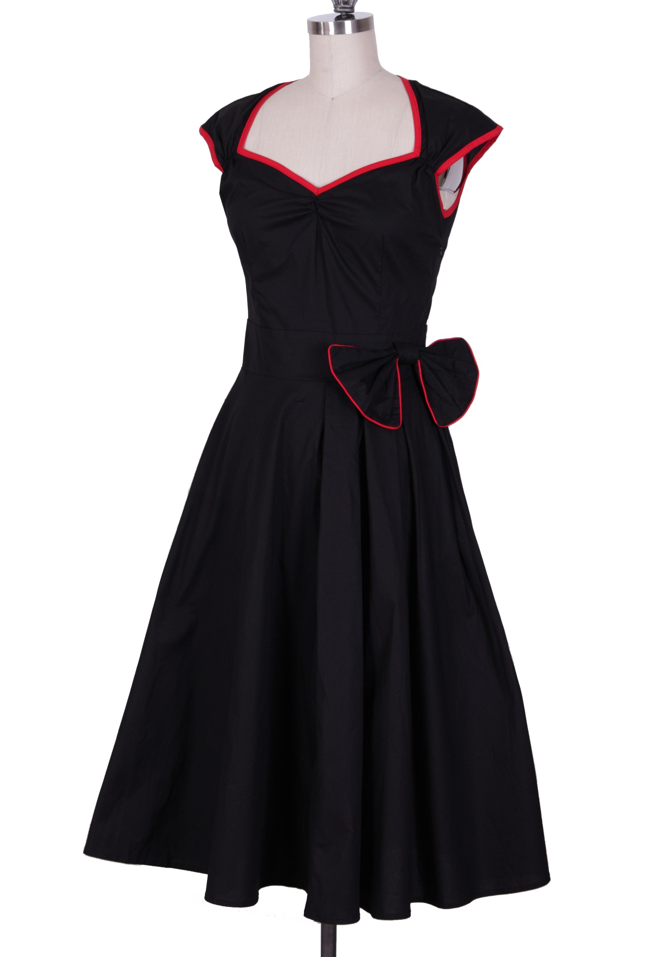 Take A Bow Rockabilly Party Housewife 50s Dress | ReoRia