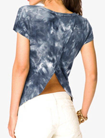 tie-dye t-shirt tee open back