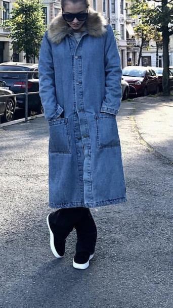 coat blue denim jacket oversized