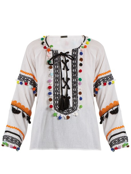 Dodo Bar Or top embellished cotton