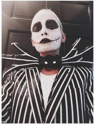 jacket stripes striped jacket blazer nicole richie halloween halloween makeup halloween accessory halloween costume instagram