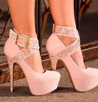 shoes pink platform shoes mary jane cross buckles