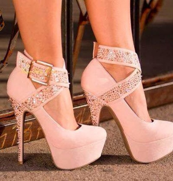 shoes buckles platform shoes pink cross mary jane