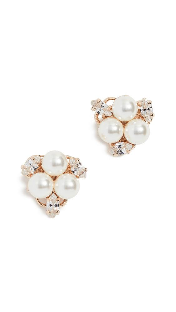 Anton Heunis Pearl Cluster Earrings in gold / yellow
