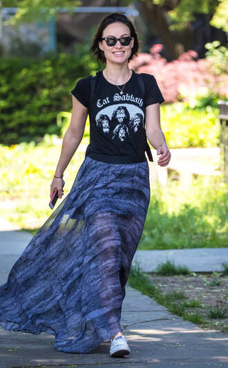 skirt spring outfits spring olivia wilde maxi skirt streetstyle