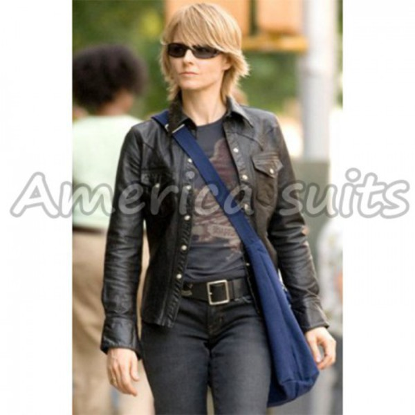 jodie foster brave one celebrity style celebrity style celebrity clothes leather jacket leather goods womens accessories fitness accessories fashion kendall jenner fluffy jumper