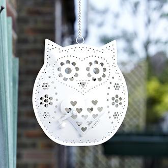 home accessory owl tealight decoration garden gift ideas cute cream