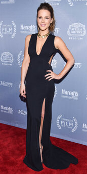 dress,gown,prom dress,slit dress,kate beckinsale,plunge v neck,black,black dress,slit,halter neck,plunge neckline,plunge dress,a line,a line dress,mermaid,mermaid prom dress,maxi,maxi dress,prom,long prom dress,formal,formal dress,formal event outfit,evening outfits,evening dress,long evening dress,party dress,red carpet,red carpet dress,celebrity style,celebrity,celebstyle for less,classy dress,elegant dress,cocktail drss,cocktail dress,cute dress,girly dress,date outfit,birthday dress,graduation dress,homecoming,homecoming dress,wedding clothes,wedding guest,engagement party dress,new year dresses