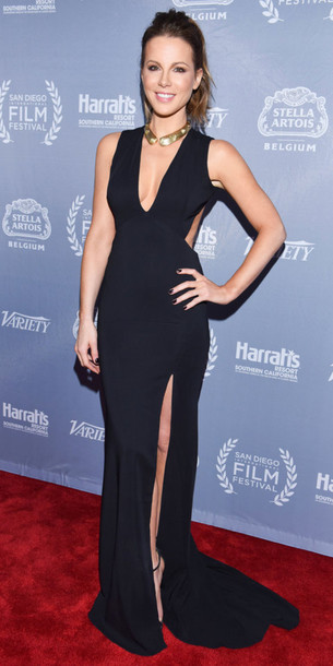 Dress Gown Prom Dress Slit Dress Kate Beckinsale