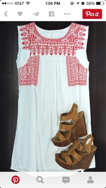 dress red designs white dress
