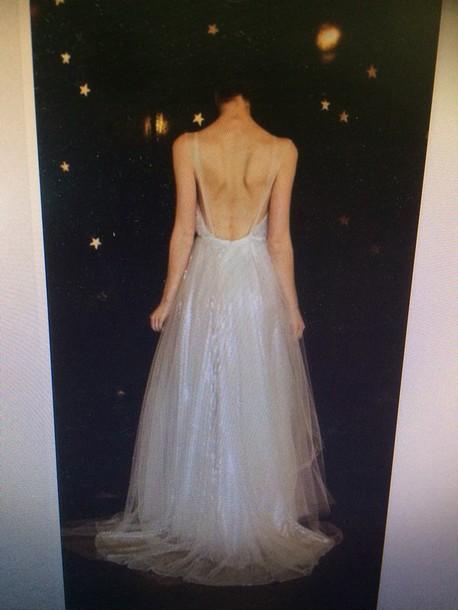 dress low back sparkle prom dress