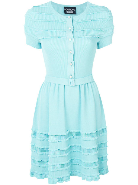 BOUTIQUE MOSCHINO dress button up dress women blue