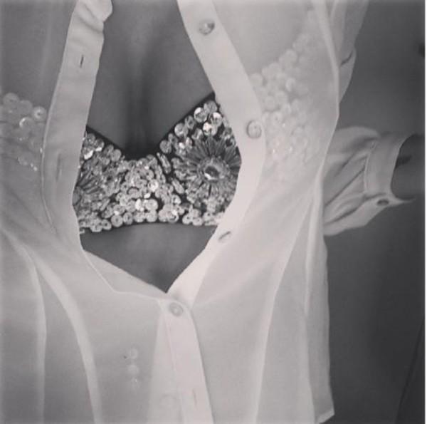 underwear bra jewels shiny black white
