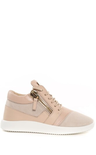 sneakers leather suede beige shoes
