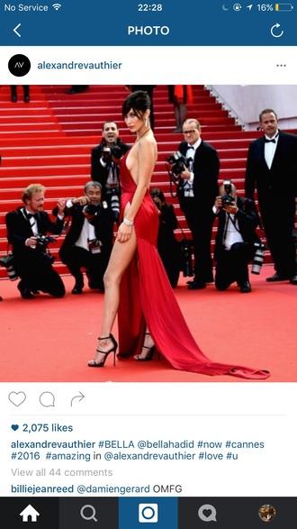 dress red silky dress halter neck