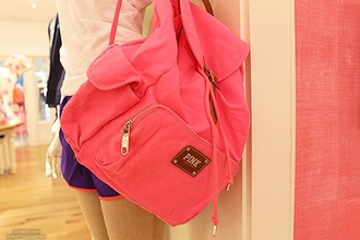 bag school bag old school backpack pink pink bag back to school