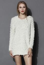 chicwish,mini dress,hooded knit dress