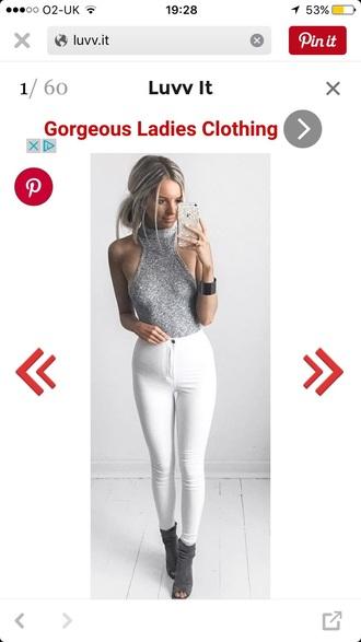 top grey bodysuit knit turtleneck grey rollneck halter neck grey bodysuit knit top