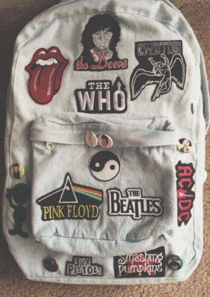 pink floyd bag backpack inspo inspiration the who dr who supernatural merlin sherlock john green looking for alaska the fault is in our stars