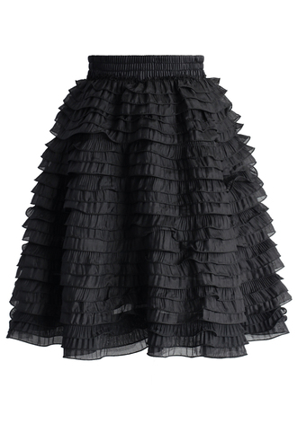 skirt tiered of cuteness skirt in grey chicwish mini skirt black skirt summer skirt summer skirts