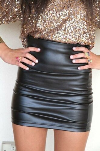 leather leather skirt nye sequin shirt skirt mini skirt faux leather