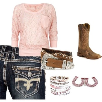 top pink crochet/knit/lace