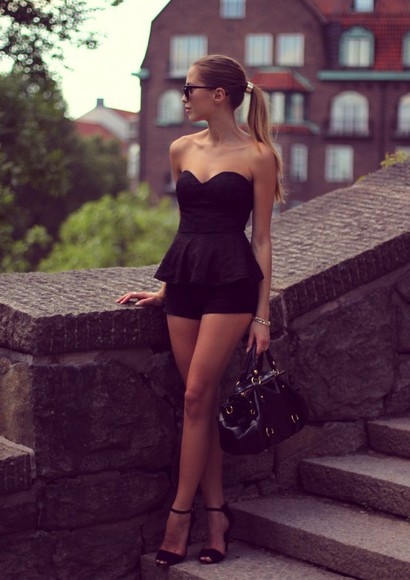 shoes black glasses dress summer glasses fashion glamgerous black high heels high heels bag sunglasses jewels gold jumpsuit playsuit romper